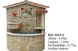 Fontaine murale habillage en pierre