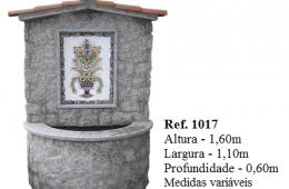 Fontaine murale habillage pierre